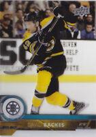 17-18 Upper Deck David Backes Clearcut Bruins Clear Cut Acetate 2017