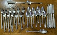 Wm Rogers EXQUISITE Silverplate Forks Knives Spoons 1940 Lot of 27