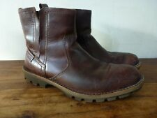 Mens Clarks Brown Leather Ankle Boots Size 8 G