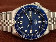 SEIKO DIVER STUNNING BLUE 300M MOD 7S26-0020 SKX007J AUTOMATIC MEN WATCH 740055
