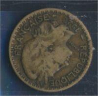 Togo 2 1925 sehr schön Aluminium-Bronze 1925 1 Franc Laureate (8977181