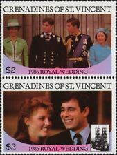 ST. VINCENT GRENADINES -1986- Andrew & Sarah Royal Wedding - MNH Se-Tenant  #540