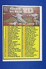 1962 Topps Civil War News - #88 Checklist - UNMARKED - Excellent++ Condition