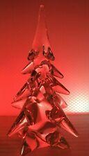 Large Pretty Vintage Art Glass CRYSTAL Japan Christmas Tree Heavy 3.9 lbs SIGMA