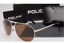 New 2018 Mens Police Sunglasses 8455 Model Gold Frame Free Post