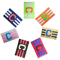 Football Soccer Sports Adjustable Bands Fluorescent Captain Armband Breathable