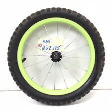 "Complete 16"" Front Bicycle Yellow Wheel w/ 2.125"" Tire - Kids Mini-BMX Bike #k65"