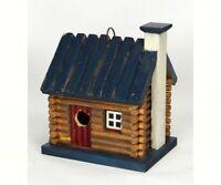 DECORATIVE  BIRD HOUSE -  Homestead Birdhouse - LOG CABIN   -  SE987