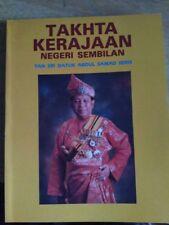 MALAYSIA 1987 Takhta Negeri Sembilan Malaya Sultan Royal king History Negri