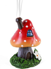 Red Smoking Toadstool Cone Incense Burner Designed by Lisa Parker