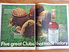 1968 Canadian Club Whiskey Ad Football Helmets Hall of Fame Canton Ohio