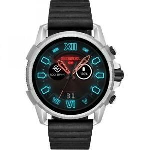 Mens Smartwatch DIESEL FULL GUARD DZT2008 Leather Black Touchscreen GEN 4