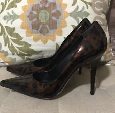 Charles David Brown Patent Tortoise Pointy Toe Pumps, Size 9, Beautiful!