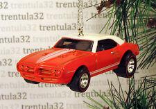 1967 PONTIAC FIREBIRD 400 '67 CHRISTMAS TREE ORNAMENT Orange/White XMAS