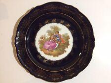 """Limoges Castel~""""Fragonard""""~Collec tor Plate~10""""~22 kt. Gold~Guilded Porcelain~Vtg"""