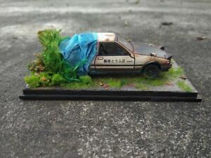 Free sticker - diecast toyota trueno initial d AE86 diorama abandoned rusty
