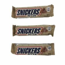 Snickers Pecan Limited Edition Sold Out Texas Pecans 3 Bars Milk Chocolate LE