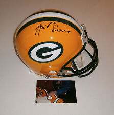 PACKERS Aaron Rodgers signed Full Size PRO LINE helmet w/ 2X MVP Fanatics HOLO