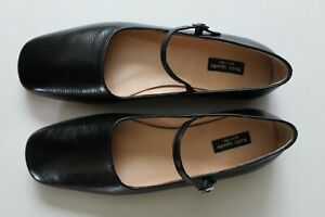 Kate Spade New York Women Black Leather Mary Janes Flats size 7 B