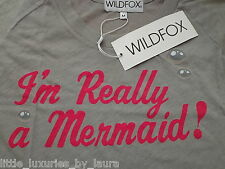 NWT WILDFOX COUTURE I'm Really A Mermaid Tee Shirt T-Shirt Top Medium M SOLD-OUT