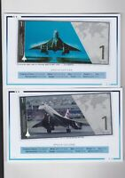 7 COOK ISLANDS 2019 CONCORDE FINE SILVER ONE DOLLAR BANKNOTES WITH CERTIFICATES.