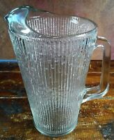 46 Ounce Crystal Clear Glass Pitcher Iced Tea Tree Bark Design Barware