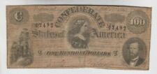 Confederate Currency Civil War era item one old note vg