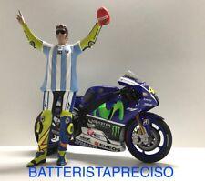 MINICHAMPS SET VALENTINO ROSSI 1/12 WINNER GP ARGENTINA 2015 YAMAHA + FIGURE