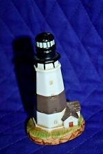"Estate 3-1/2"" Tall Porcelain Bisque by Lefton 1994 Lighthouse Black/White Look"