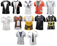 Mens Funny Printed T-Shirt Fancy Dress Party Costume T-Shirt  New Designs