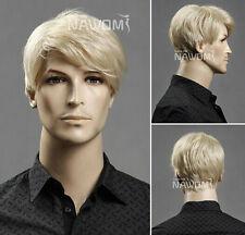 Men's short blonde hair wig wig male European and American popular