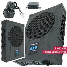 """Gravity 8"""" 1000W Car Audio Under Seat Super Slim Powered Subwoofer Enclosure Sub"""