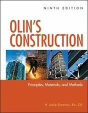 Olin's Construction : Principles, Materials, and Methods by H. Leslie Simmons...