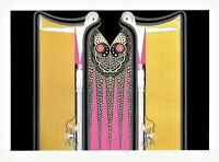 Erte 1987 Twin Sisters Mirror Images Sister Fantasy MATTED Art Deco Print