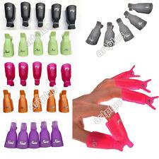 Reusable 10pcs Nail Art Soak Off UV Gel Nail Polish Remover Wrap Clip Cap Set AR