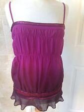 Karen Millen Strappy Silk Top Size 12. Good Condition.