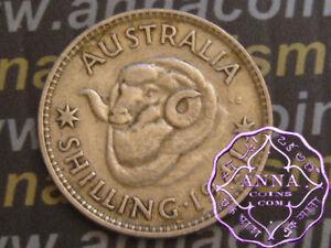 Australia 1941 George VI Shilling X1, Average Circulated Condition