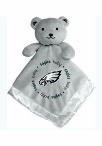 Philadelphia Eagles Baby Bear Gray Security Blanket, NFL Licensed 14X14