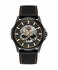 Bulova Men's 78A118 Harley Davidson Japanese-Quartz Black Watch