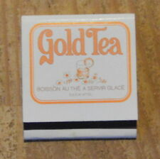 Pochette d'allumettes complète Gold tea, années 1970-1980