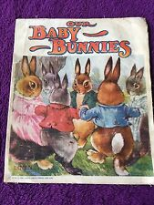 Vintage Linen OUR BABY BUNNIES 1928 Sam'L Gabriel Sons and Company Book #743