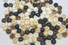 8mm - Hand Crafted Bone Bead - Assorted 3 to 4 colors- Total 144 pieces per Pack