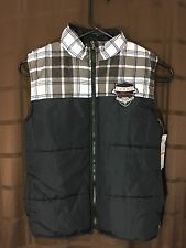 Coogi Womens 7 Puffer Vest Black NEW w Tags $91msrp