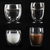 250/350ml Doppelwandig Hitzebeständig Glas Kaffeebecher Trinken Tasse