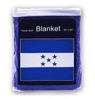 Honduras Flag Fleece Blanket *NEW* 5 ft. x 4.2 ft. Honduran Travel Throw Cover