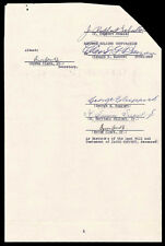 EDWARD G. BARROW - DOCUMENT SIGNED 05/24/1939 CO-SIGNED BY: GEORGE E. RUPPERT