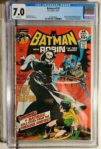 Batman #237 CGC 7.0 Bronze Age 1st Appearance of the Reaper! (Dec 1971, DC)
