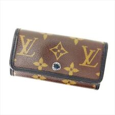 Louis Vuitton Key holder Key case Monogram Brown Black Mens Authentic Used I148
