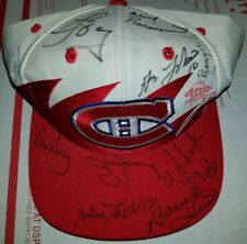 MONTREAL CANADIENS HABS TEAM 12 SIGNED 12 HAT MAURICE RICHARD LAFLUER HULL HOF +