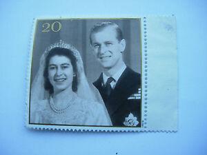 Queen Elizabeth Prince Philip Golden Wedding anniversary stamp 20p 1997